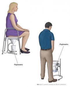 Fig. 2: Un uroflujómetro para hombre y mujer.